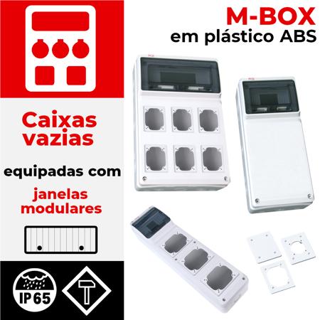 Em plástico série M-BOX