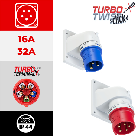 IP44 angulares TURBO TWIST