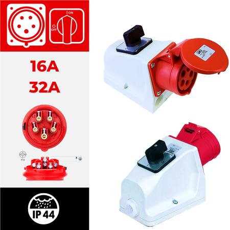 IP44 com interruptor